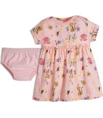 vestido con panty rosado offcorss