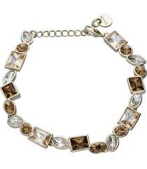 bracciale con sui toni dell'oro in metallo dorato per donna