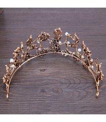 novia moda barroco tocado corona foliar cabellos delicados hoop sombreros