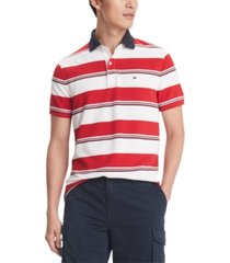 tommy hilfiger men's morrison stripe polo shirt, created for macy's