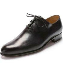 handmade men black genuine leather formal shoes, mens lace up black dress shoes