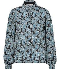 blouse met paisley print pillar  blauw