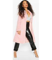 petite longline super soft faux fur coat, mauve