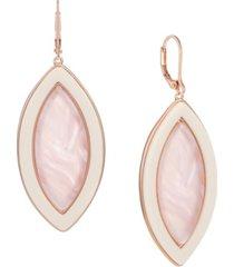 trifari rose gold-tone drop earrings