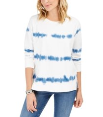 style & co tie-dyed sweatshirt, created for macy's