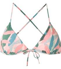 track & field abstrata printed bikini top - pink