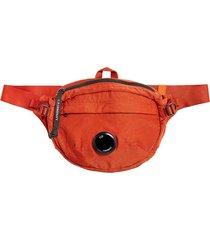 c.p. company nylon satin waist bag |pumpkin| 198a-5269g 449