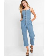 jeans jumpsuit met knopen