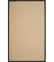 safavieh natural fiber beige and black 4' x 6' sisal weave rug