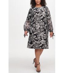 tommy hilfiger plus size floral-print a-line dress