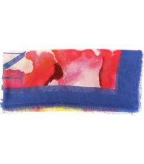 alexander mcqueen multicolor silk blend scarf