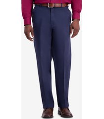 haggar men's w2w pro relaxed-fit flat front casual pants