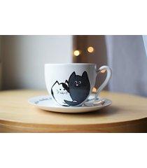 filiżanka ceramiczna 270ml koty prezent ślubny