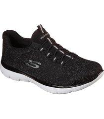 zapatos mujer  summits - lovely sky negro skechers