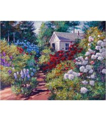 "david lloyd glover the gardeners shed canvas art - 37"" x 49"""