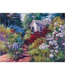 "david lloyd glover the gardeners shed canvas art - 37"" x 49"""