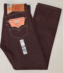levi's 501 mens cotton straight button fly jeans shrink to fit 501-1207 burgundy