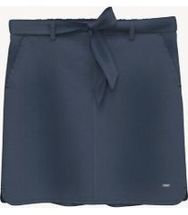 tommy hilfiger women's essential belted chambray skirt sky captain - xl