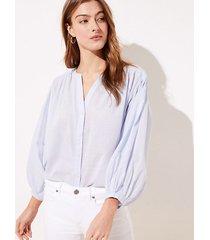 loft petite drop shoulder button down shirt