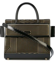 givenchy striped structured tote bag - black
