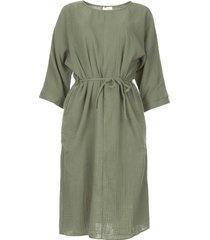 katoenen jurk graziella  groen