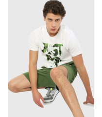 camiseta blanco-verde nike the just do it floral tee