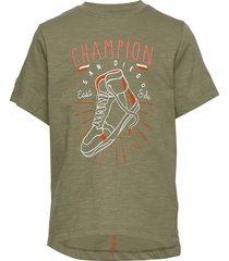 angus - t-shirt s/s t-shirts short-sleeved grön hust & claire