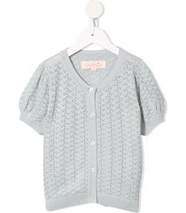 tutu du monde faye open-knit cardigan - grey