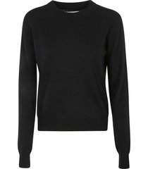 maison margiela rear logo plain knit sweater