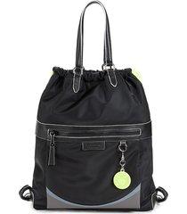 cole haan women's nylon drawstring backpack - black