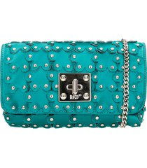 red valentino shoulder bag in green synthetic fibers