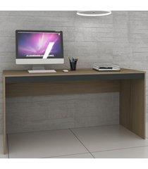 mesa para computador ho-2931 avelã/onix - hecol