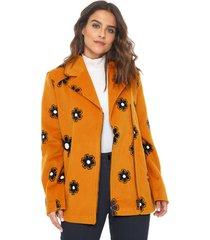 casaco colcci bordado amarelo - kanui