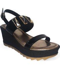 sandalia bars negro we love shoes