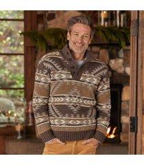 sundance catalog men's andres sweater in brown mult 2xl