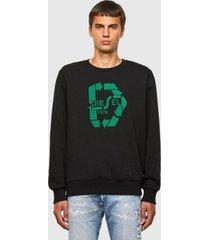 poleron s girk n81 sweat shirt 9xx negro diesel
