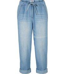 jeans con elastico e bande laterali straight fit (blu) - bpc bonprix collection