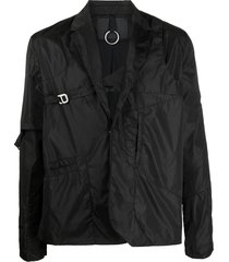 heliot emil buckle-embellished lightweight jacket - black