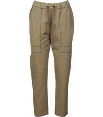 brunello cucinelli elastic drawstring waist trousers