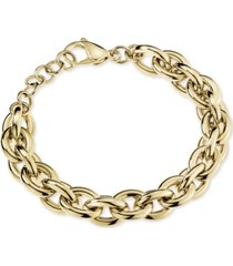 calvin klein statement chain bracelet in gold-tone pvd stainless steel