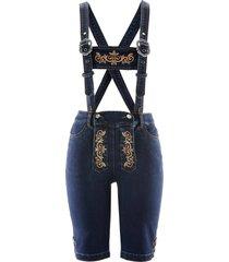 folkdräktsinspirerade jeans med hängslen