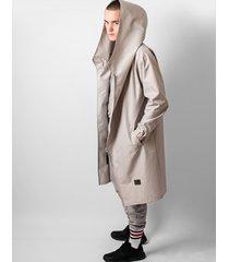 płaszcz hoodie grey oversize men