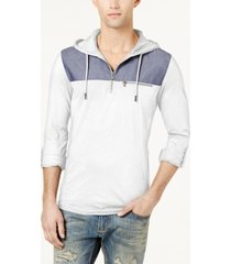 i.n.c. men's quarter-zip hoodie, created for macy's
