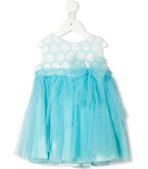 aletta floral patterned tulle dress - blue