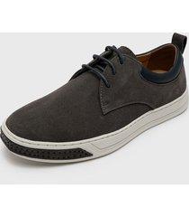 zapato casual cuero,textil gris nat geo