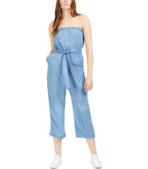 numero striped strapless cropped jumpsuit