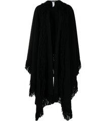 dolce & gabbana tassel fringed cape - black
