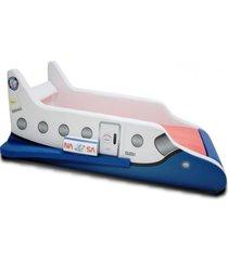 cama cama carro infantil foguete azul