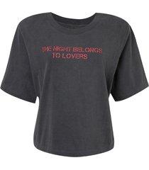 camiseta john john the night feminina (cinza medio, gg)
