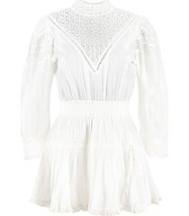 loveshackfancy embroidered cotton mini dress